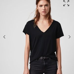 All Saints v-neck black t-shirt